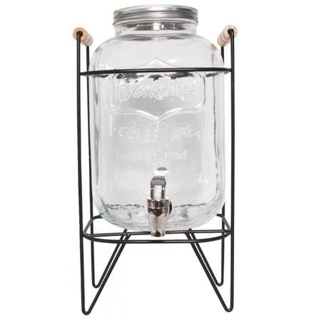 Imagem de Suqueira com suporte 8 litros em vidro