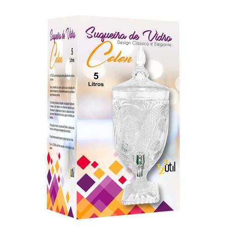 Imagem de Suqueira de vidro colon 5 litros