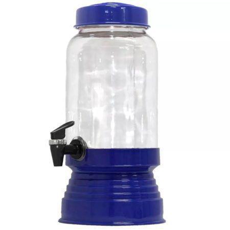 Imagem de Suqueira de Vidro Com Base em Alumínio 3250 Ml - Azul Escuro