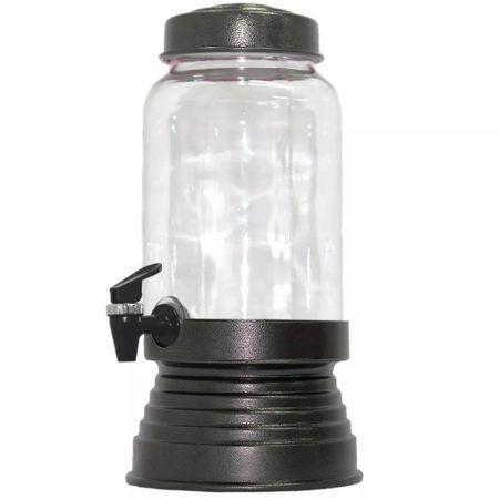 Imagem de Suqueira de Vidro Com Base em Alumínio 3250 Ml - Black Craquelado