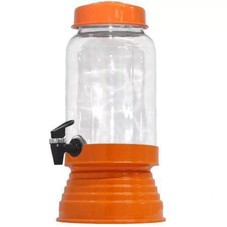 Imagem de Suqueira de Vidro Com Base em Alumínio 3250 Ml - Laranja