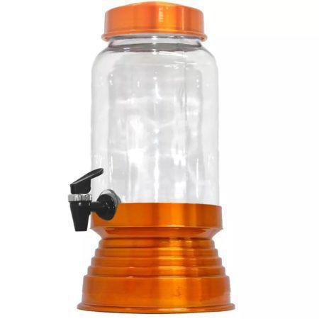 Imagem de Suqueira de Vidro Com Base em Alumínio 3250 Ml - Laranja Verniz