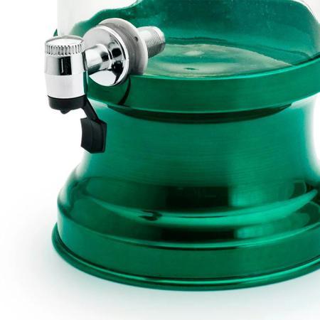 Imagem de Suqueira de Vidro Com Base em Alumínio 3250 Ml - Verde Brilhante