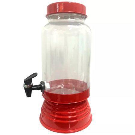 Imagem de Suqueira de Vidro Com Base em Alumínio 3250 Ml - Vermelha