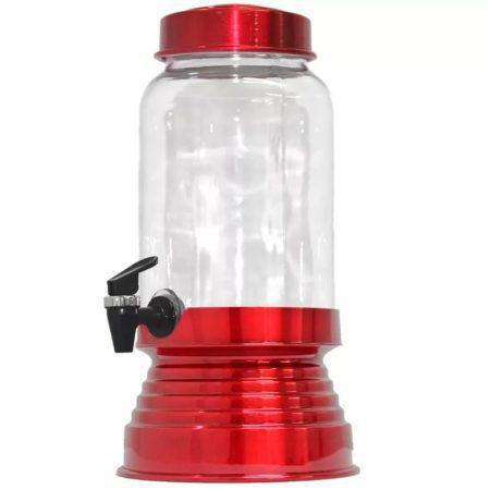 Imagem de Suqueira de Vidro Com Base em Alumínio 3250 Ml - Vermelha Verniz