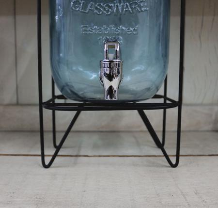 Imagem de Suqueira De Vidro Com Suporte Aramado 5 Litros