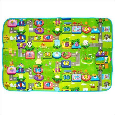 Imagem de Tapete Atividades Grande Infantil Bolsa 2,00x1,80 Dupla Face Isolante Térmico TOYS-0518
