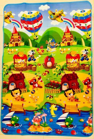 Imagem de Tapete Infantil Dobrável Térmico com Bolsa para Transporte 1,80X1,2metros - Balões Cercas