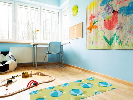 """Imagem de TAPETE INFANTIL PVC """"BOLA"""" - 0,50x1,20m."""