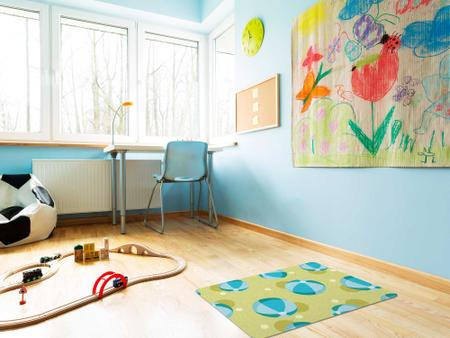 """Imagem de TAPETE INFANTIL PVC """"BOLA"""" - 50x70cm."""