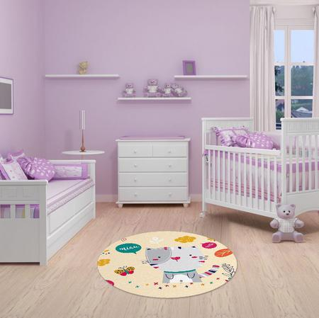 "Imagem de TAPETE INFANTIL PVC ""GATO"" - 70cm."