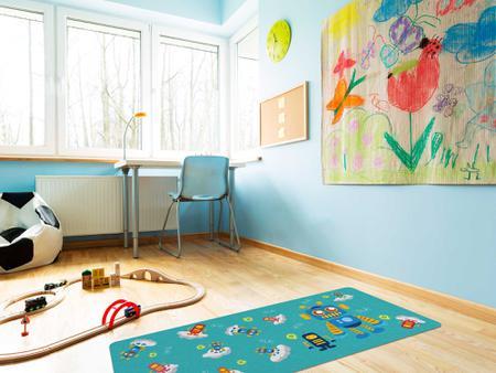 """Imagem de TAPETE INFANTIL PVC """"ROBO"""" - 0,50x1,20m."""