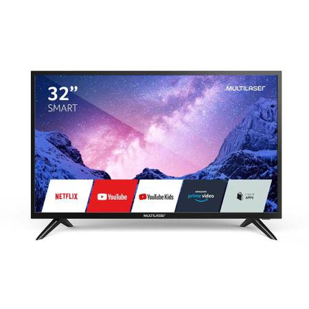 Imagem de Televisão Multilaser 32 Polegadas HD TL031 com Função Smart Wi-Fi e 2 Entradas HDMI - Preto