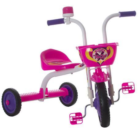 Imagem de Triciclo Infantil Top Girl Rosa E Branco Pro Tork Ultra