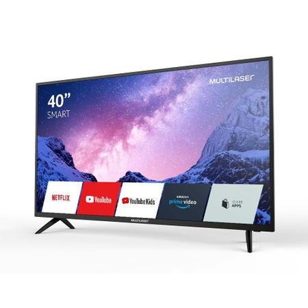 Imagem de TV Smart 40 Multilaser FHD C/ conversor digital, HDR, Wifi, HDMI e USB Preta - TL030