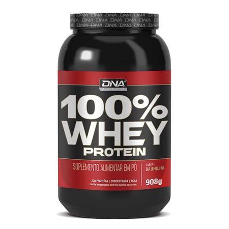 Imagem de Whey protein 100% dna 908g - baunilha