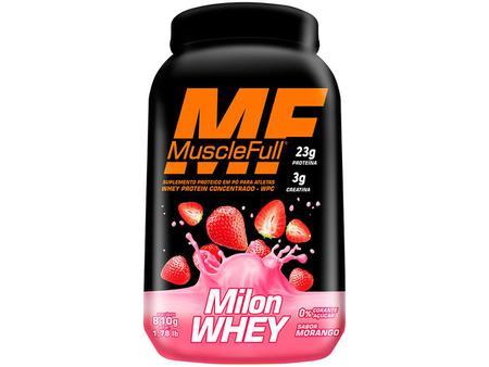 Imagem de Whey Protein Milon 810g - Morango - Muscle Full
