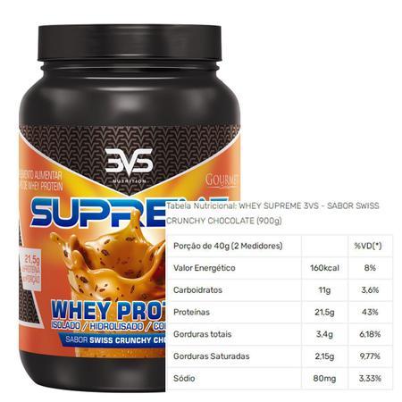 Imagem de Whey supreme 900 g - 3vs (swiss crunch chocolate)