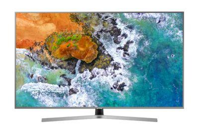 """9c280f8e50ebf 4K UHD Smart TV 65"""" com Visual Livre de Cabos NU7400. - Samsung R  9.299"""