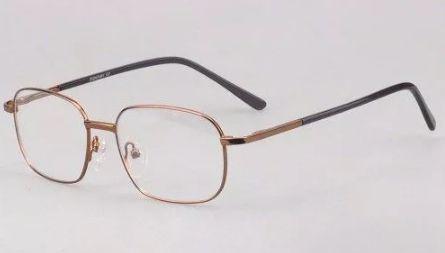 95f77938e Armação de Metal Fina na Cor Bronze para Óculos de Grau - Vinkin ...