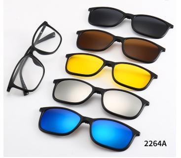 a9680e58d Armação de Óculos Com Lente Transparente + 5 Lentes Clip On de Sol e  Noturna - Vinkin R$ 180,00 à vista. Adicionar à sacola
