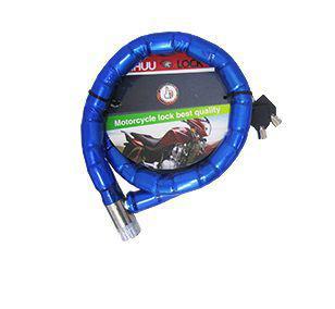 037781f694189 Imagem de Cadeado corrente trava para moto bike motocicleta bicicleta com 2  chaves 1mt x 22mm