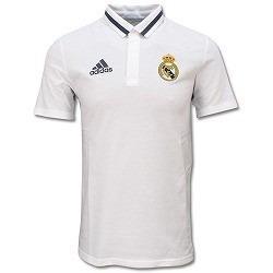 62aa745b34 Camisa Polo Real Madrid Viagem adidas Branca 2016 - Vestuário ...