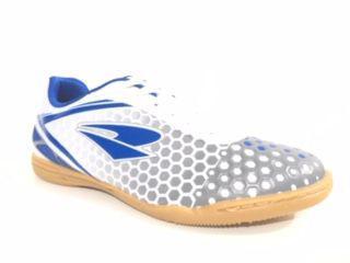 32971e685e Chuteira Futsal Dray Topfly X Adulto - Branco Azul - Chuteira ...