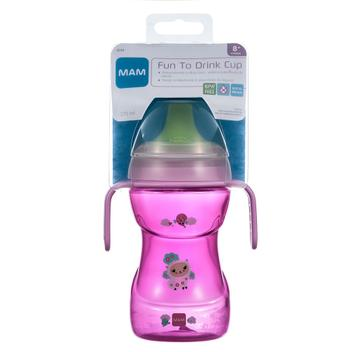 270 ml MAM Fun To Drink color rosa 0,10 kg Taza para beber