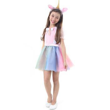 Fantasia Vestido De Unicornio Infantil Feminino Tiara Com Orelha E Chifre Sulamericana Fantasias Para Criancas Magazine Luiza