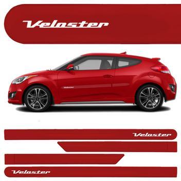 a4848f3e8ec23 Jogo Friso Lateral Hyundai Veloster Vermelho Cor Original 4pças - Kl store  - Frisos e Borrachões - Magazine Luiza