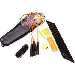 6589d15ed Imagem de Kit Badminton Vollo 4 Raquetes 3 Petecas De Nylon Rede E Suporte
