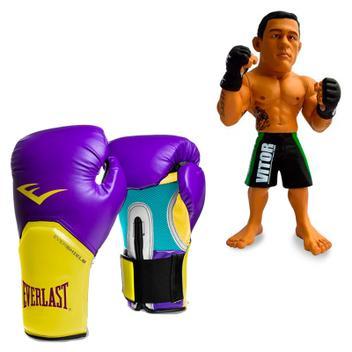7984d4c74 Kit Luva Boxe Elite Pro Style Roxo amarelo Everlast 14oz + Boneco UFC Vitor  Belfort Bermuda Verde - Rythmoon - Vestuário Esportivo - Magazine Luiza