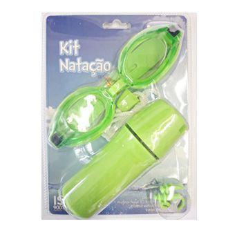 43469e3db Imagem de Kit Natação Infantil Mor Óculos Protetor Nasal e Protetor  Auricular Verde