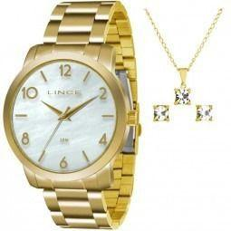 6ba4c85798d Kit Relógio Lince Feminino C  Colar E Brinco Lrg4374l Ku17 - Relógio ...