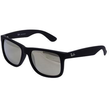 Óculos de Sol Ray Ban Justin Rubber Black RB4165 622 5A - Acetato Preto,  Lente Espelhada Dourada - Óculos de Sol - Magazine Luiza 21958300c3