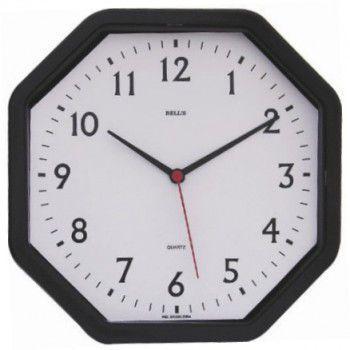 804ac8c435c Relógio De Parede Oitavado Números 22cm Quartz - Bells - Decoração ...