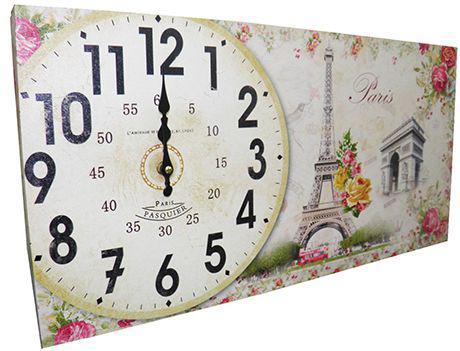 02ae1ff3173 Imagem de Relogio Para Parede Cozinha Vintage Retro Decoracao Monumentos  Paris Horizontal