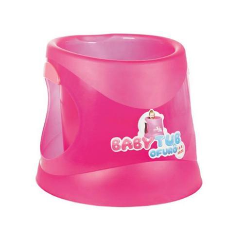 Banheira Ofurô Babytub 1 a 6 Anos Cristal Pink
