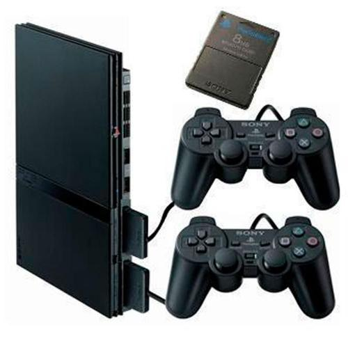 Console Playstation 2 Slim Play 2 Ps2 + 2 Controles + Memory Card 16MB bg82keh54e
