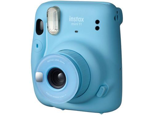 Instax Mini 11 Fujifilm Azul Flash Automático - com Acessórios