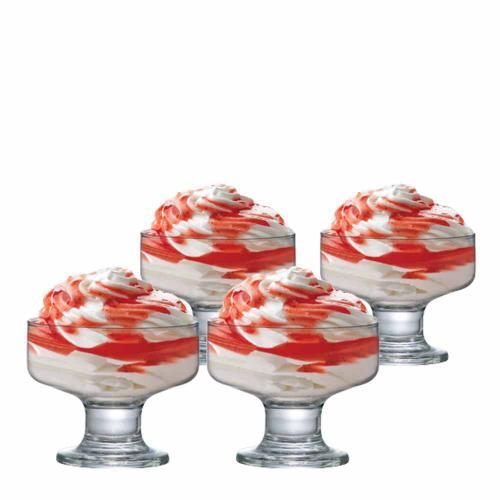 Jogo de Taças Sobremesa Curaçao Vidro 260ml 4 Pcs - Ruvolo