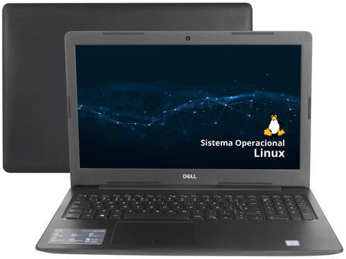 "Notebook Dell Inspiron i15-3584-D10P i3-7020U 4GB 1TB 2.3GHz 15,6"" Ubuntu Linux Preto"
