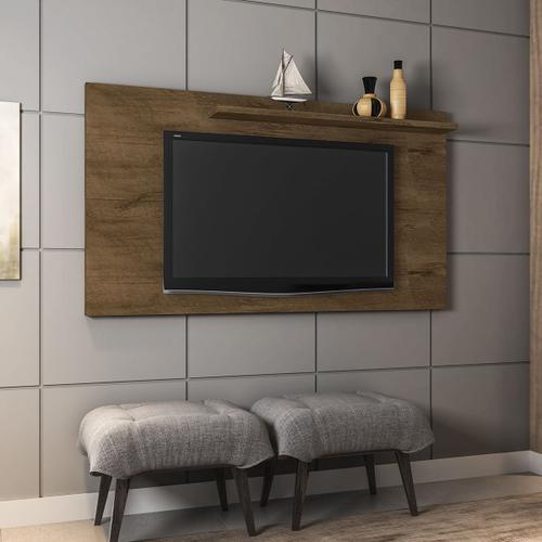 Painel Para TV Até 50 Pol Móveis Bechara Chanel Madeira Rústica
