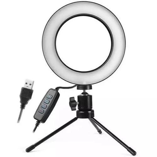 Ring Light 6 polegadas iluminador Led Selfie Maquiagem Tripé Celular B