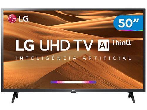 "Smart TV 4K LED 50"" LG 50UM7360PSA Wi-Fi Conversor Digital Preta"
