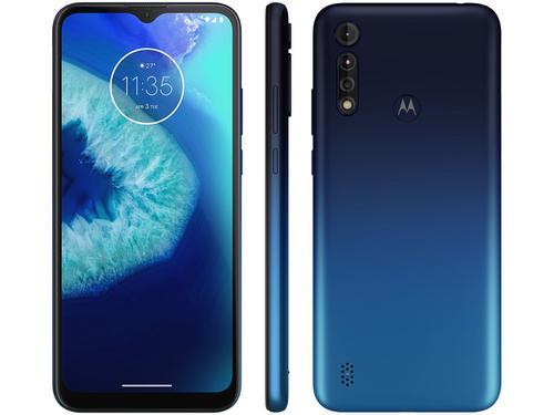 "Smartphone Motorola Moto G8 Power Lite 64GB Dual Chip Android Tela 6.5"" Helio P35 4G Câmera 16MP+ 2MP+ 2MP - Azul Navy"