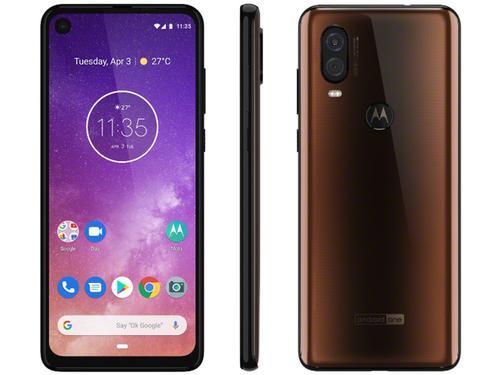 Smartphone Motorola One Vision 128GB Bronze - 4G 4GB RAM 6,34 Câm. Dup