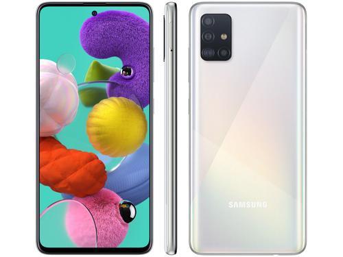 Smartphone Samsung Galaxy A51 SM-A515F/DS Desbloqueado Dual Chip 128GB Branco