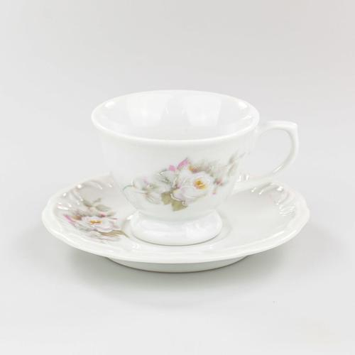 Xícara Café Com Pires 80 ml Porcelana Schmidt - Dec. Eterna